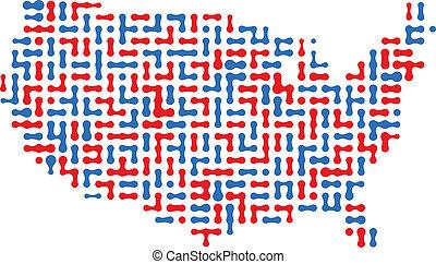 USA Map - USA dot map