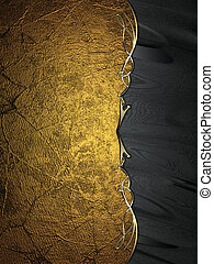 Grunge gold background with black edge with gold trim....