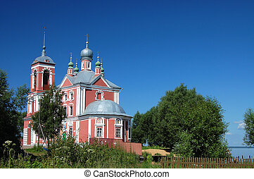 Ancient church in Pereslavl. A gold ring of Russia