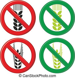 Gluten free - Symbol sign food for celiacs