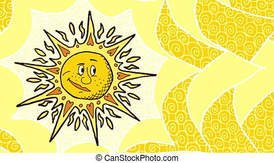 Sun Background - Looping animation with cartoon sun