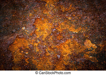 Oxidated metal surface making an abstract texture, high...