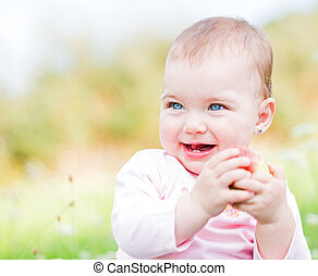Adorable baby - Portrait of an adorable and cheerful baby...