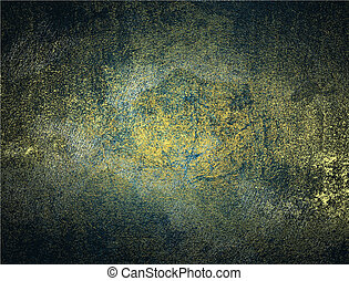 Abstract grunge gold blue texture Design template Design for...