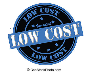 Low cost - Stamp with text low cost inside, vector...