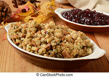 Turkey stuffing and cranberry sauce - Turkey stuffind and...