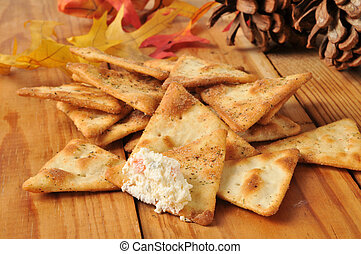 Pita bread chips - Seasoned pita bread chips with gourmet...