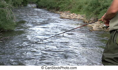 Fishing on the Mountain River