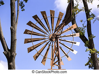 old windmill for electricity