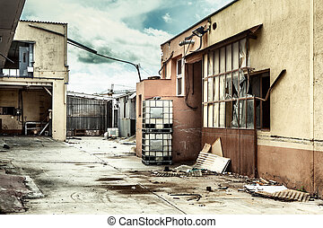 Abandoned factory after the economic crisis.