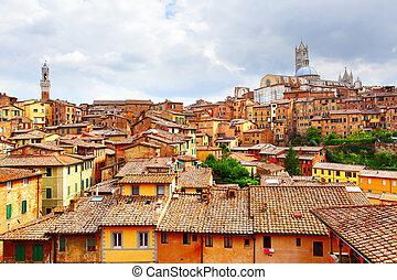 Siena - Panoramic view of Siena, Italy