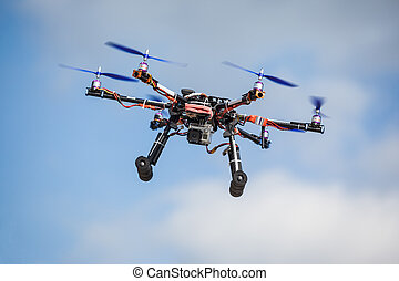Drone - Professional carbon drone with GPS and video camera...