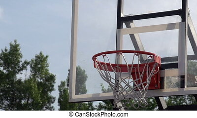 Training Throw of the Ball - The ball enters the basket...