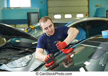 windshield windscreen replacement - Automobile glazier...