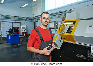industrial worker at tool workshop - manufacture technician...