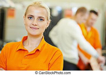 Sales assistant portrait - Positive sales assistant portrait...