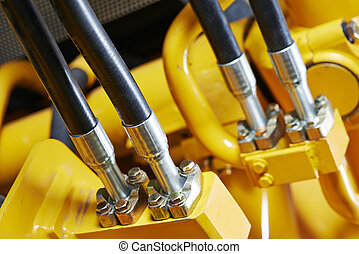 Hydraulics of machinery - Hydraulic pressure pipes system of...