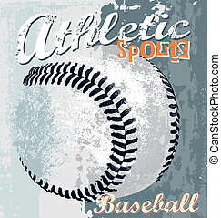 Baseball athletic sport - baseball vector illustration for...