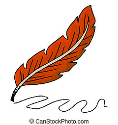 Writing Quill - An image of a writing quill.