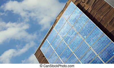 Solar cells and sun, timelapse - With solar cells can...