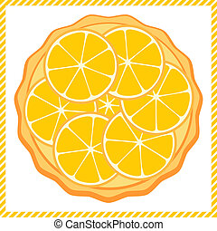 Orange tart vector illustration