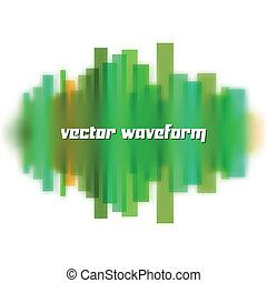 Blurred waveform made of lines