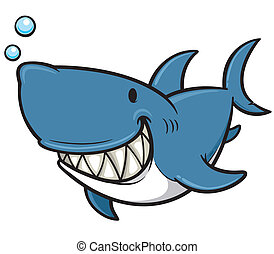 Shark - Vector illustration of Cartoon Shark