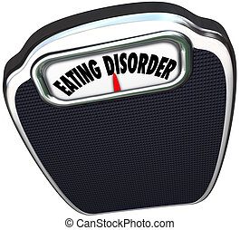Eating Disorder Scale Words Anorexia Bulimia Health Issue -...