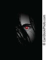 Evil Eye - Evil eye lurking from the dark