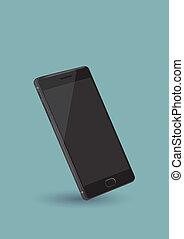 Black Smart Phone Vector Illustration - Vector illustration...