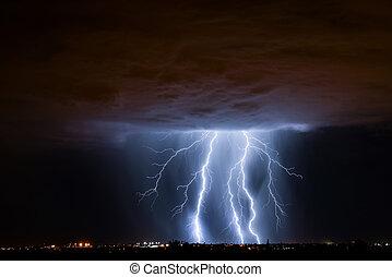 Tucson Lightning - Lightning over Tucson, AZ during monsoon...
