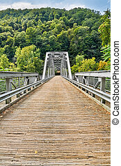 New River Bridge - The Fayette Station Bridge, with its...
