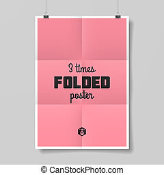 Three times folded poster
