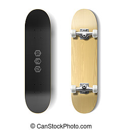 Skateboard - Photorealistic skateboard illustration