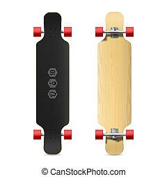 Longboard, skateboard - Photorealistic longboard, skateboard