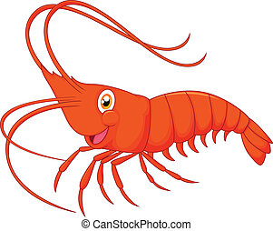 Cute cartoon shrimp - vector illustration of Cute cartoon...