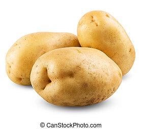 potato isolated on a white background close up. Clipping...
