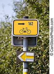 bike sign and tourist directorz