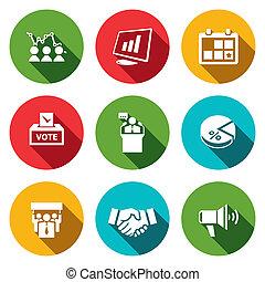 Election Icons collection - Election icon collection on a...