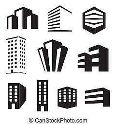 Building real state icons vector se
