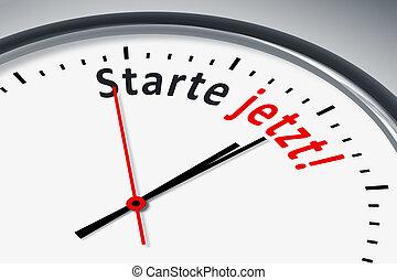 Uhr mit Text - Eine Uhr mit Text starte jetzt!