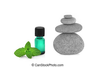 Peppermint Essence and Spa Stones