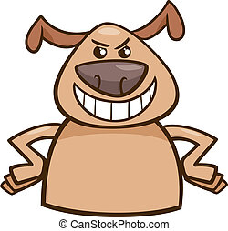 mood cruel dog cartoon illustration - Cartoon Illustration...