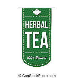 Herbal tea banner design over a white background, vector...