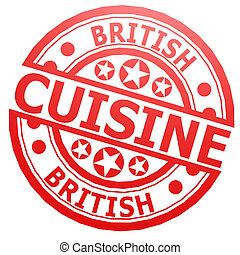 British cuisine stamp