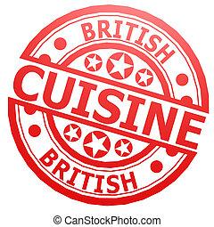 British cuisine stamp