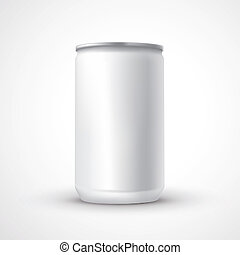 blank aluminum can template isolated over white background