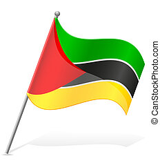 flag of Mozambique vector illustration isolated on white...