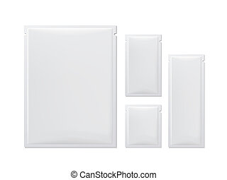 blank package set isolated on white background