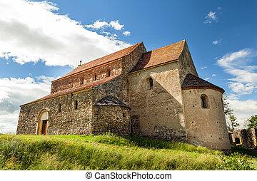 Saxon Church in Cisnadioara, Sibiu, Romania